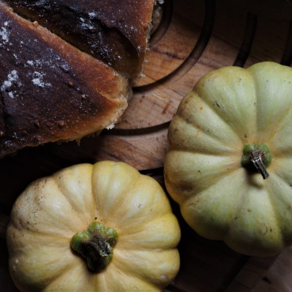 Høst og gresskarformet brød